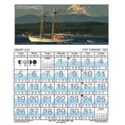 2020 Port Townsend - San Juans Tide Graph Calendar
