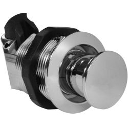 M1-2A Pop-Out Knob Latch - Chrome Plated Plastic