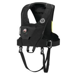 Front view of Mustang Survival EP 38 Ocean Racing HIT Automatic Inflatable Vest with Harness