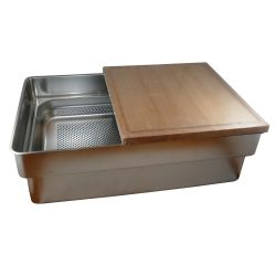 Gastronorm Sink A Kit - Sink, Cut Board & Colander