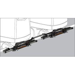 SeaStar Twin Engine/Dual Cylinder (uses HO6002 tie bar)