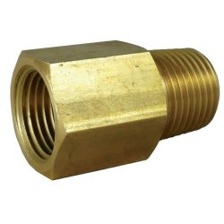 Male British Pipe to Female NPT Adapter - Brass