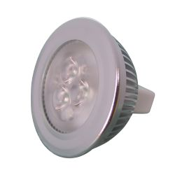 MR16 Bi-Pin Magnum 3 LED Bulb - 4 Watts, 12 or 24V