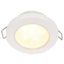 "Hella EuroLED 75 3"" Recessed Mount LED Down Light - Warm White, White Bezel"