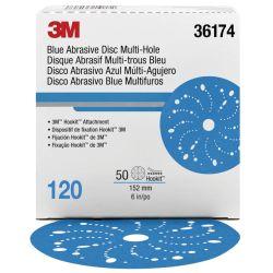 "6"" Hookit Blue Multi-Hole Sanding Discs"
