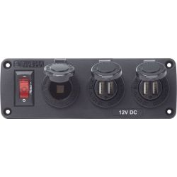 BelowDeck DC Panel - 12V Socket + USB Chargers