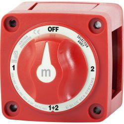 300A RED MINI BATTERY SWITCH 4 POS