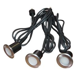 Recessed Wired LED Light Set