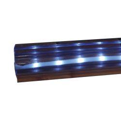 Standard ClearVue P-Shape Vinyl Dock Edging w/LED Solar Light Strip