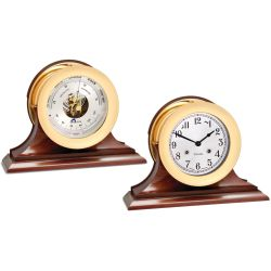 "6"" Brass Shipstrike Clock & Ship"