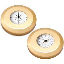 Chart Weight Clock & Compass Set - Brass