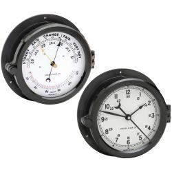 "6"" Patriot Deck Clock & Barometer Set - White Dial"