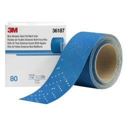 "Hookit 2-3/4"" Blue Multi-Hole Sheet Rolls"