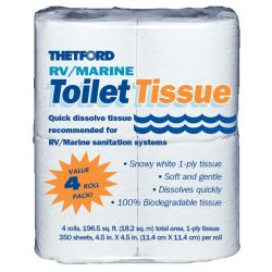 1 PLY MARINE TOILET TISSUE (4 PACK)