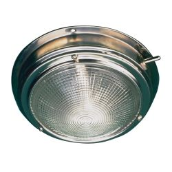 STAINLESS DOME LIGHT  5IN LENS