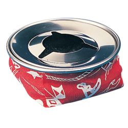 BEAN BAG STYLE ASH TRAY  RED