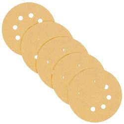 Yellow Random Orbit Sanding Paper - Dust-Free; Hook & Loop