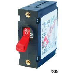 AC/DC A-Series Single Pole Circuit Breaker - White Toggle, 25A