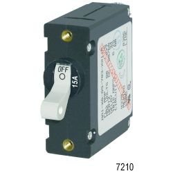 AC/DC A-Series Single Pole Circuit Breaker - Black Toggle, 5A