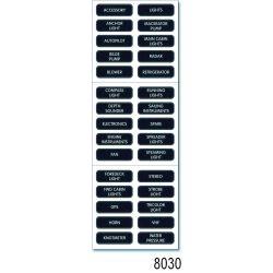 AC Panel Labels - Large Format, Label Kit:  AC Panel, Basic (30)
