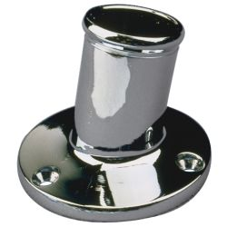 CHROME BRASS POLE SOCKET 3/4IN