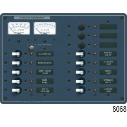 12V A SERIES PANEL 10 POS VOLT/AMMETER