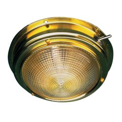 BRASS DOME LIGHT-5IN LENS
