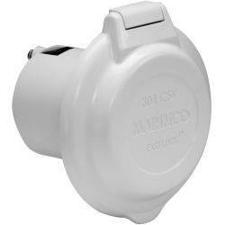 30A 125V(M) WHT EASY LOCK POWER INLET