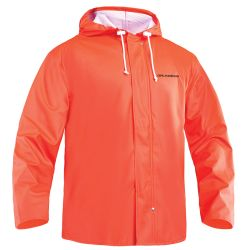 HOODED F/W JACKET ORANGE MEDIUM