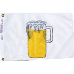 12INX18IN NYL-GLO BEER FLAG