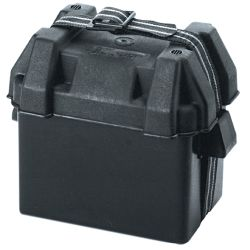 GROUP 16 VENTED BATTERY BOX BLACK