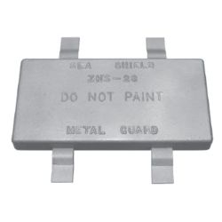 ZNC WELD-ON HULL PLATE 6X12X1-1/4IN