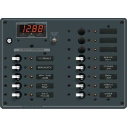 DC 13 Position Circuit Breaker Panel w⁄ Meter