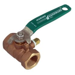2-1/2IN RED BRONZE BALL VALVE