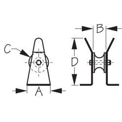 Platform Bow Roller  -  4 Hole