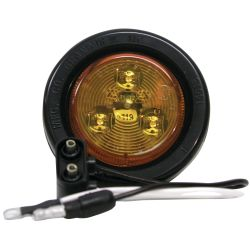 LED CLEARANCE LIGHT AMBER 2IN W/GROM