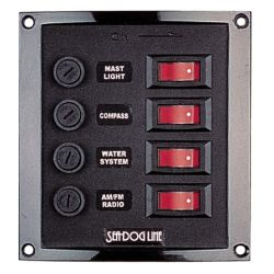 4 & 6-Gang Rocker Switch DC Fuse Panel