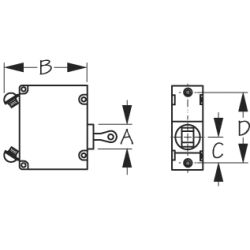 Magnetic AC⁄DC Circuit Breakers - Single Pole