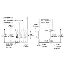 AC⁄DC C-Series Single Pole Circuit Breakers