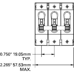 DC (Only) C-Series Triple Pole Circuit Breakers