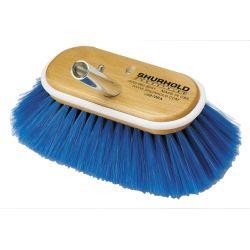 SOFT BLUE NYLON DECK  BRUSH 6 INCH