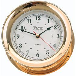 CLOCK QUARTZ ADMIRAL 6IN BRASS