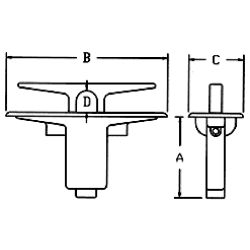 Pull-Up Cleat - 209 Series