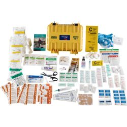 in the box of Adventure Medical Kits Marine 600 Medical Kit with Waterproof Case