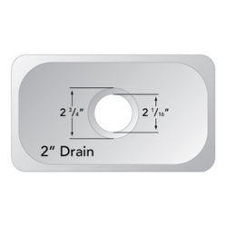 """Dimensions of Ambassador Marine Oval Flat Bottom Sink 15-1/2"""" Wide - Mirror Stainless Steel Finish, Without Studs"""