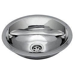 angle view of Ambassador Marine Oval Stainless Steel Sink