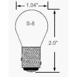 Ancor No. 1157 Indexed DC Bay Bulb - 12.8V, 27W, 32 CP, 1200 Hr, Dual Filament