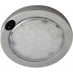 "16601 of Aqua Signal 4"" Lens Columbo LED Interior Dome Light - Stainless Steel"