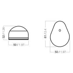 Series 24 Navigation Light - Bi-Color, Teardrop Style Diagram