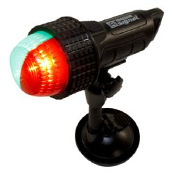 Aqua Signal Series 27 LED Battery Operated Navigation Light - Bi-Color, Suction Mount